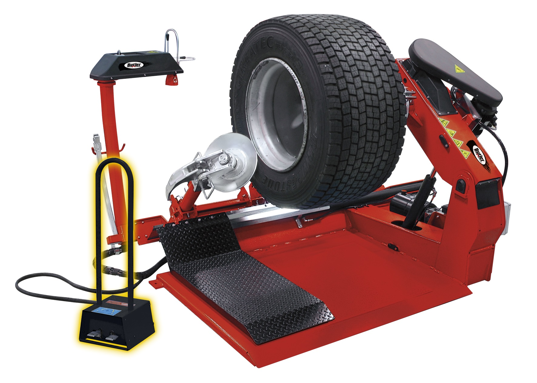 NAV41.11N, Cтенд шиномонтажный, TYRE CHANGER W.FIXED CHUCK.TABLE,MOVABLE TOOL CARRIAGE - Clamping capacity 11'-56' - Max wheel width 1100mm