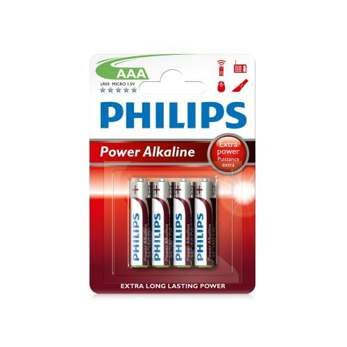 LR03 Power Alkaline B4, Батарейка Philips Power Alkaline AAA B4(4шт.),