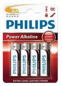 LR6 Power Alkaline B4, Батарейка Philips Power Alkaline AA (4 шт.),