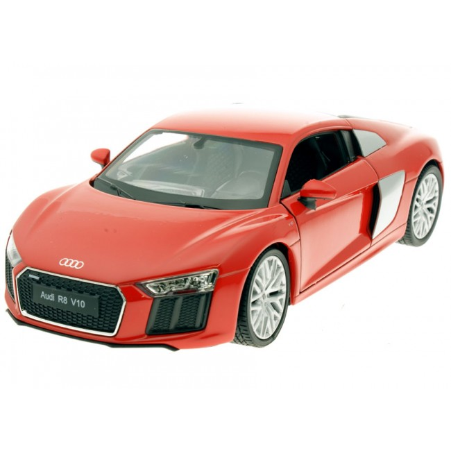 24065W, Машинка 1:24 2016 Audi R8 (YELLOW, RED),