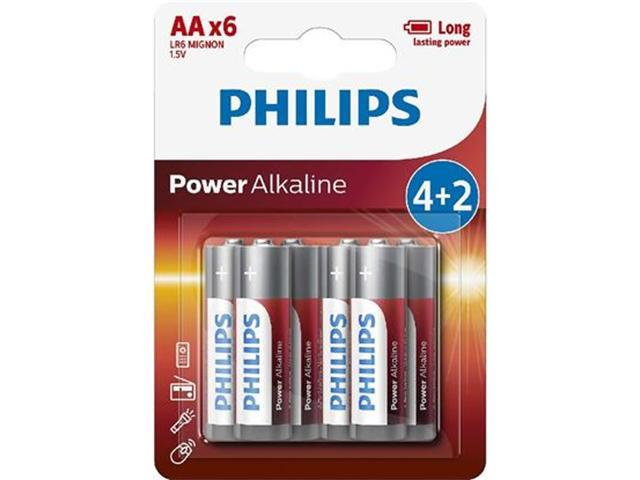 LR6 Power Alkaline B6, Батарейка Philips Power Alkaline  AA B6 (6 шт.),
