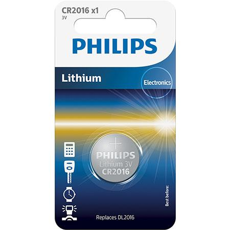 CR2016 3.0V, Батарейка Philips Lithium 3.0V coin 1-blister (20.0 x 1.6) (1 шт.),