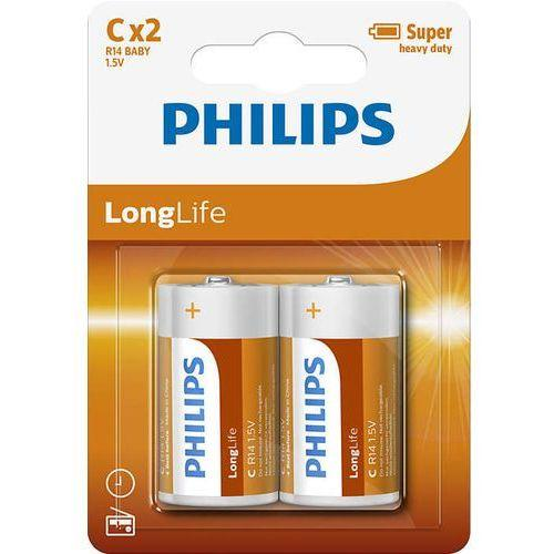 R14/C LONGLIFE B2, Батарейка Philips LONGLIFE B2 (2 шт.),