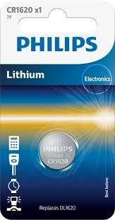 CR1620 3.0V, Батарейка Philips Lithium 3.0V coin 1-blister (16.00 x 2.0) (1 шт.),