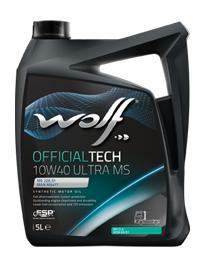 10W40 OFTECH ULTRA 5L, Масло моторное WOLF,