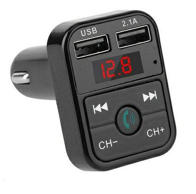 HMTFMT32, Модулятор FM автомобильный, 2USB, Модулятор FM автомобильный HELMET FM Bluetooth Transmitter with car charger 2USB HMTFMT32