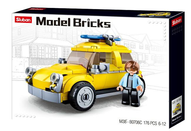 B0706C, Конструктор MODEL BRICKS — BEETLE CAR (176 элементов),